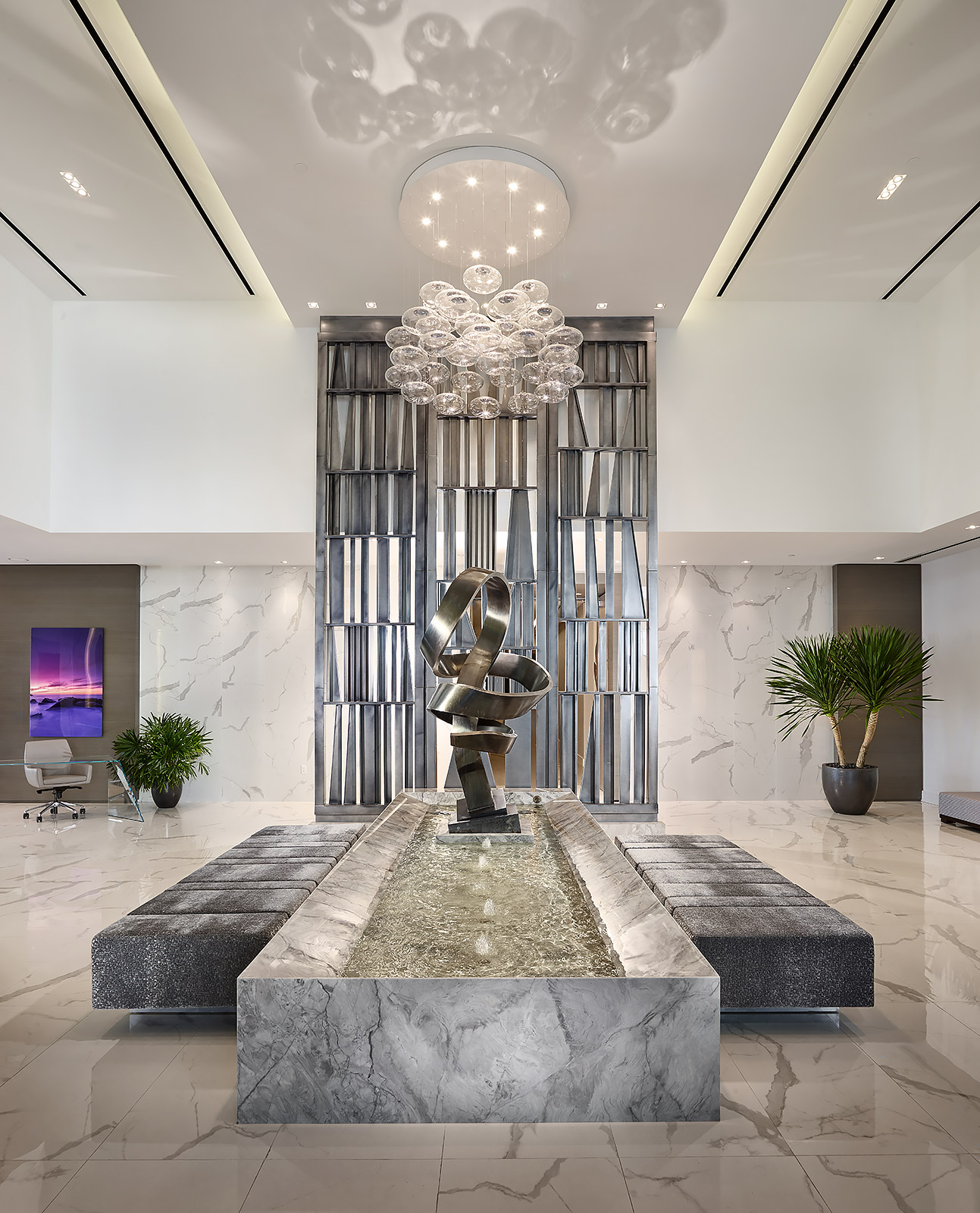 Architectural-Interior-Design-Lobby-Modern-Sculpture