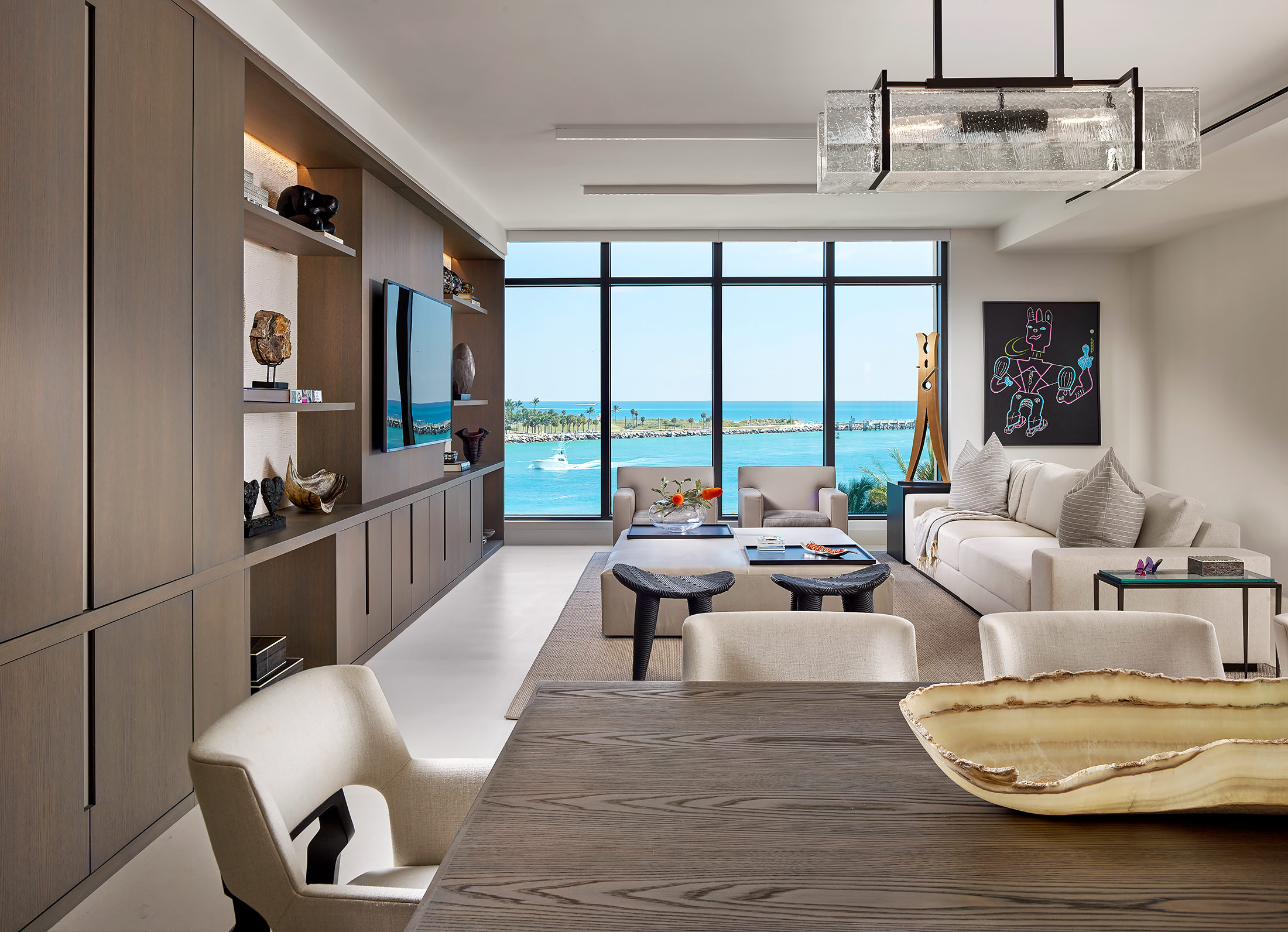 Fisher-Island-Miami-Living-Dining-Ocean-View-Yacht