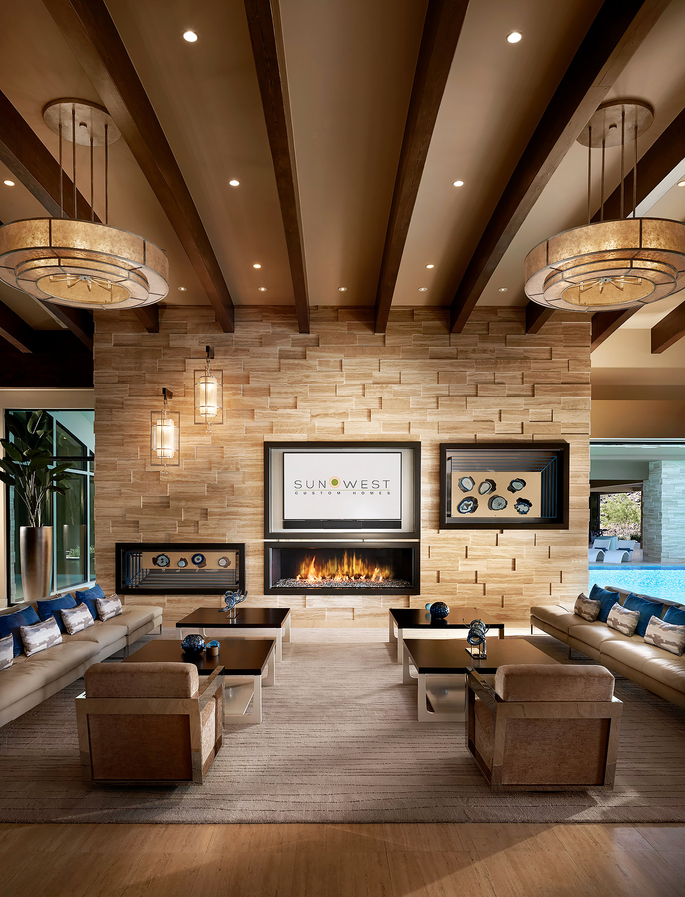 Las-Vegas-Interior-Design-Fireplace-Wall