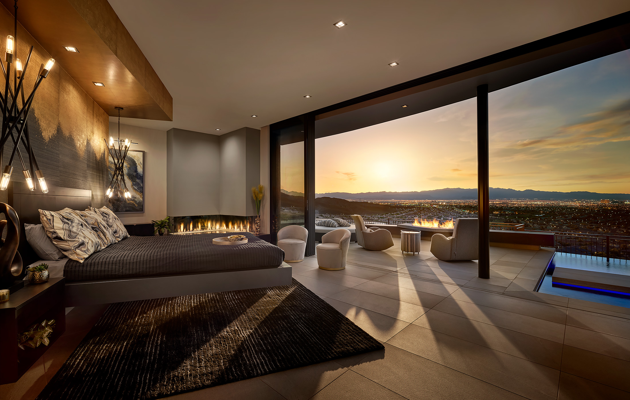 Las-Vegas-Real-Estate-Master-Bed-Sunset