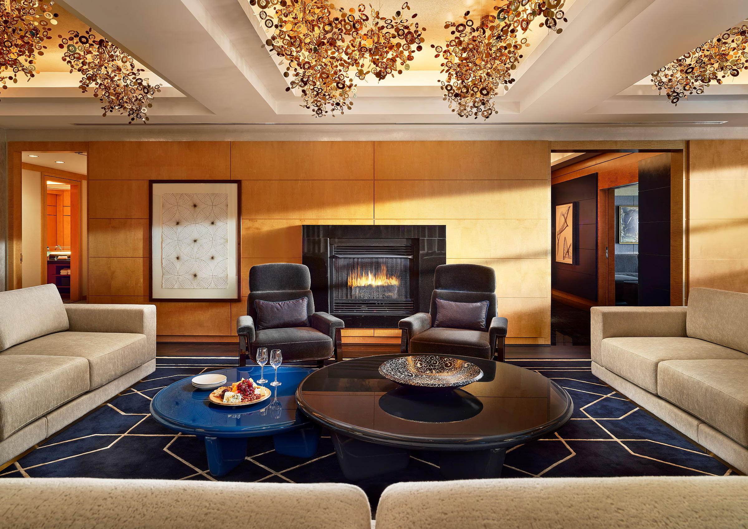 Mandarin-Oriental-Boston-Royal-Suite-Living-Fireplace