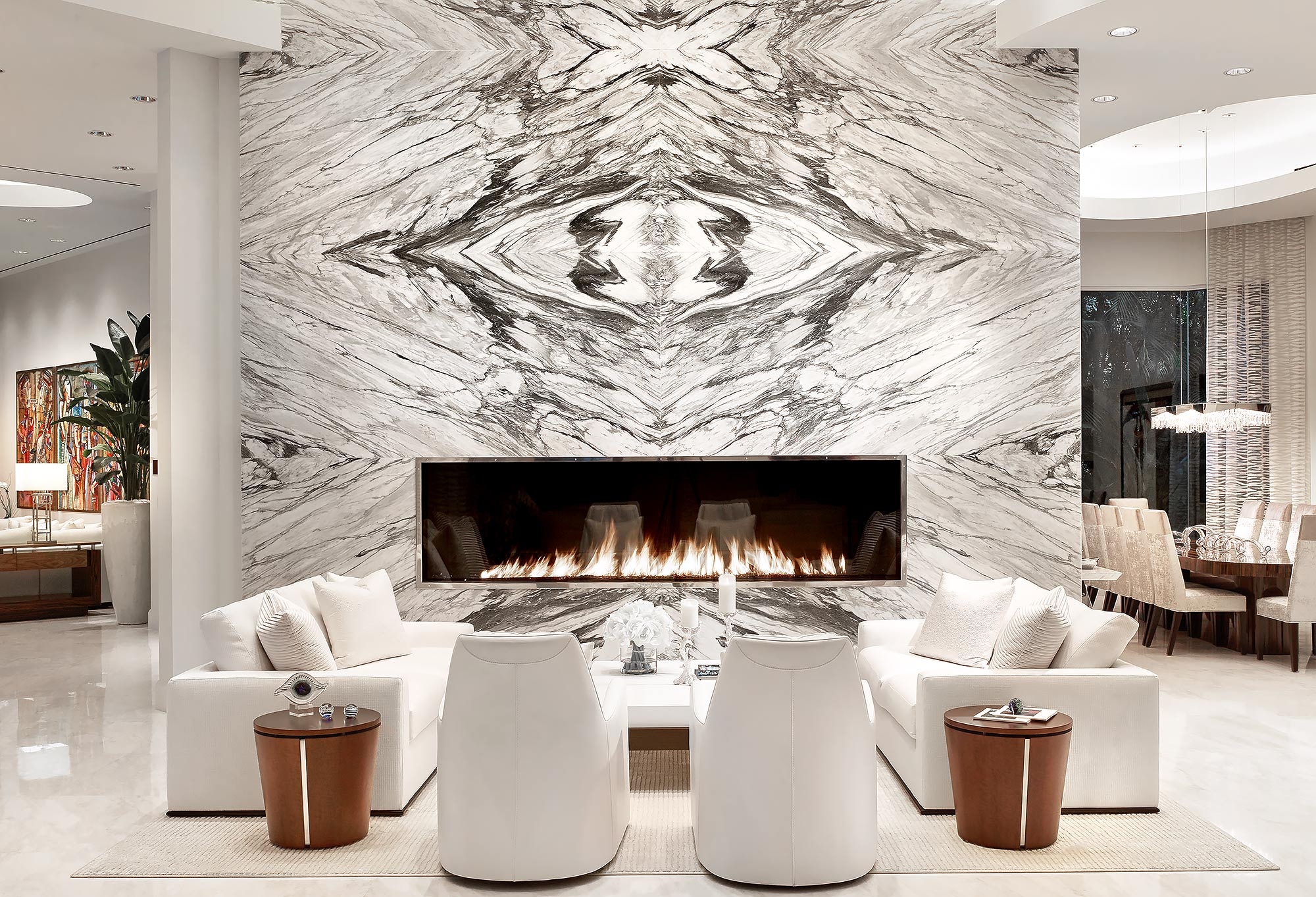 Marble-Fireplace-Interiors-by-Steven-G-Fort-Lauderdale