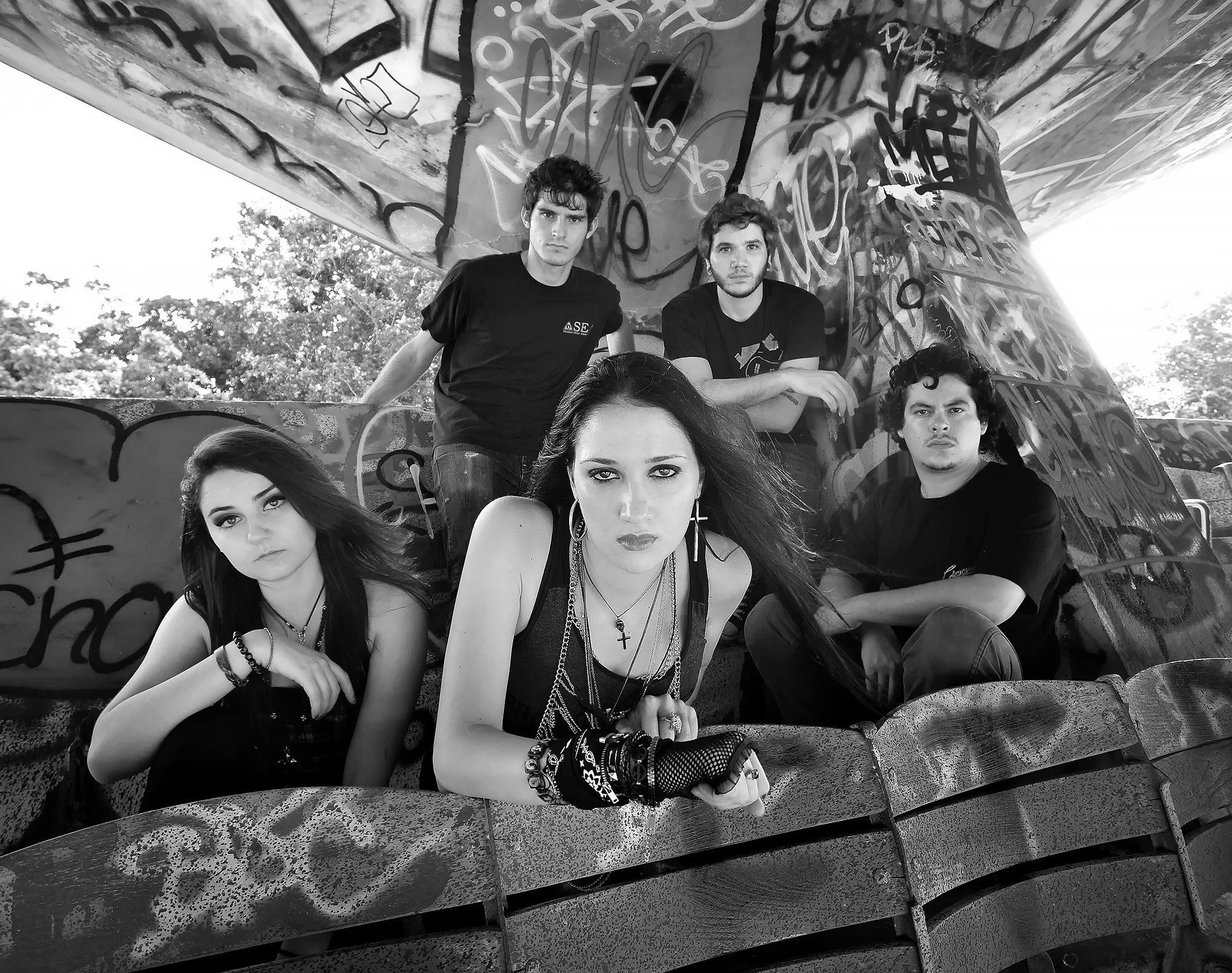 Miami-Band-Photography-Nichole-Hatton-Band-Black-and-White-Rock-n-Roll