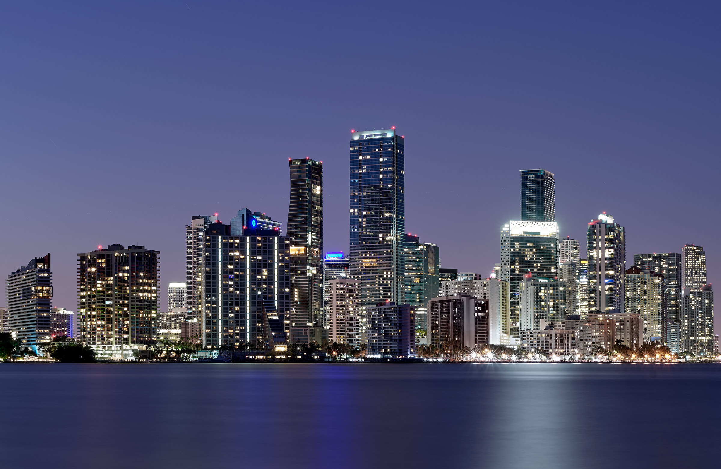 Miami-Skyline-Bay-View-Twilight