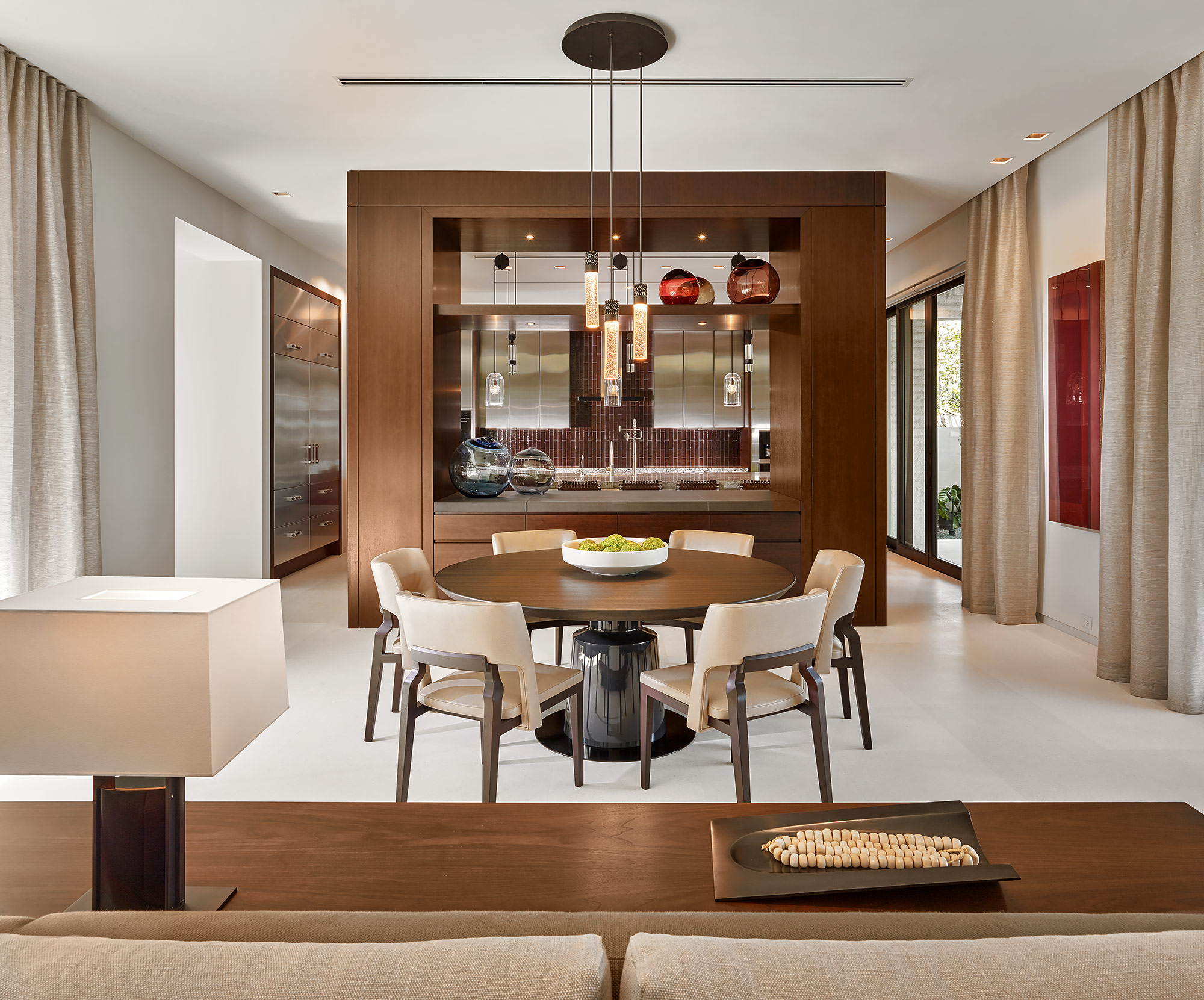 Modern-Miami-Interior-Decor-Dining-Kitchen-Woodwork