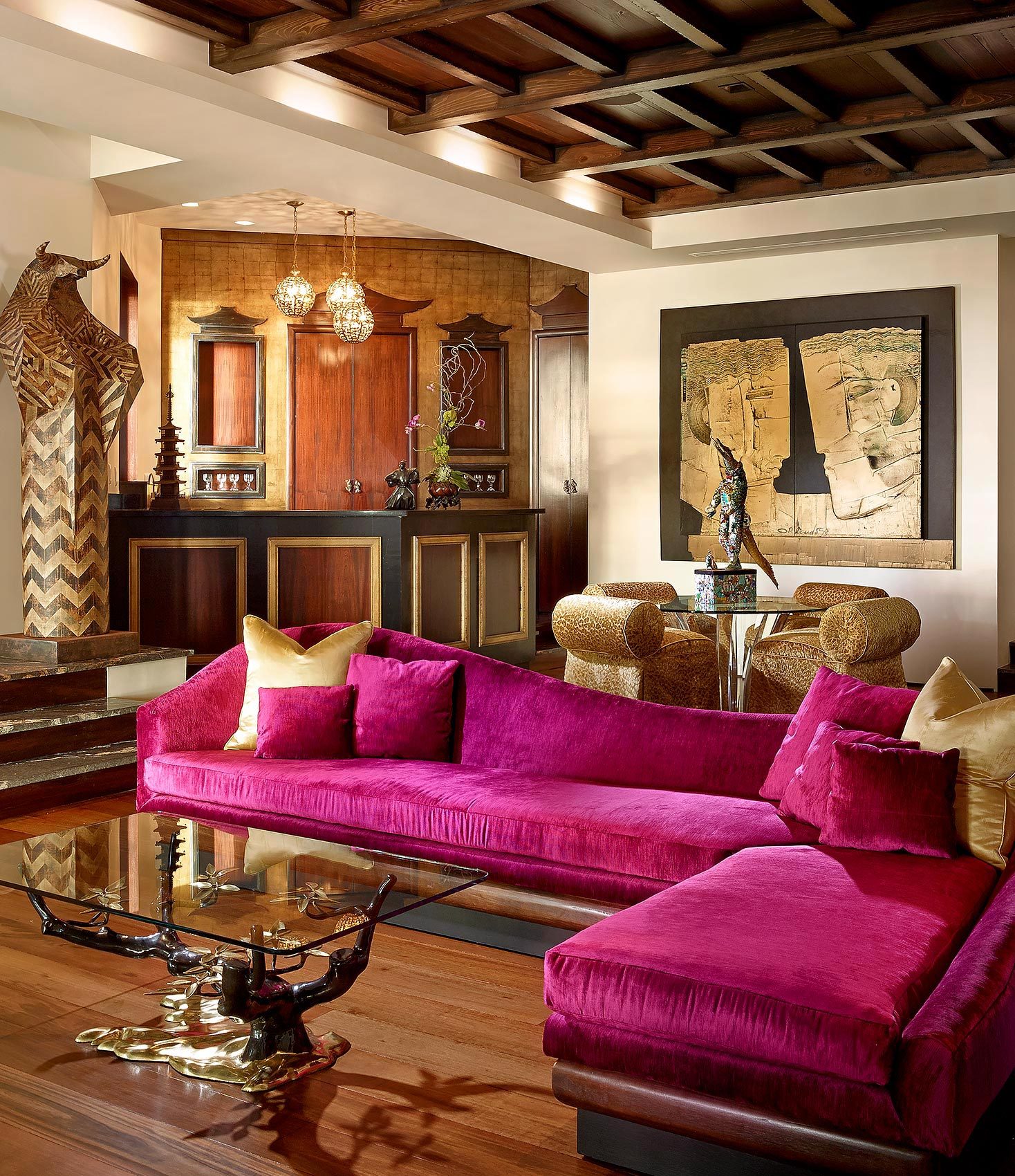Palm-Beach-Design-Asian-Family-Fuscia-Sofa