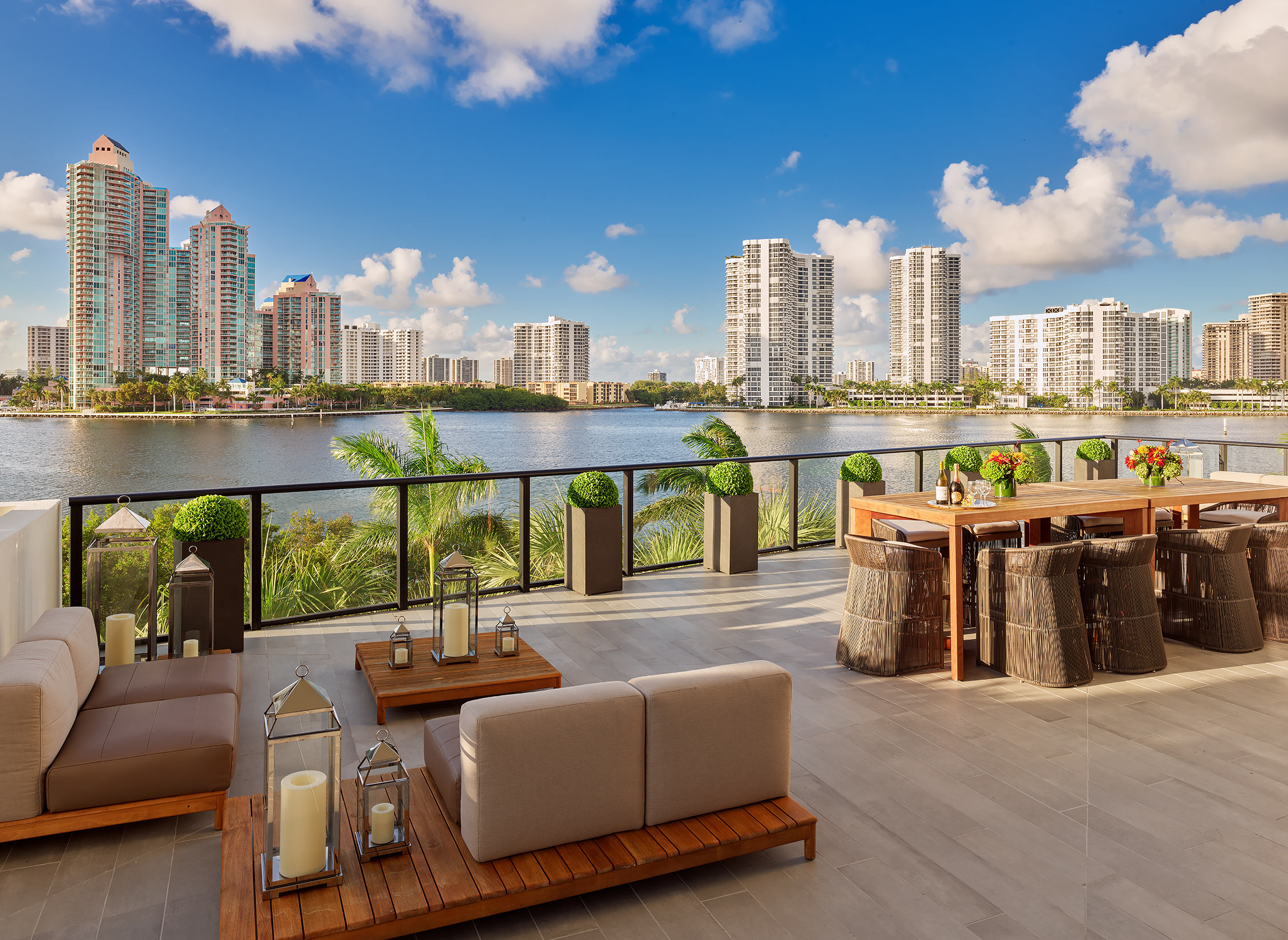 Prive-Condominium-Aventura-Florida-Deck-View