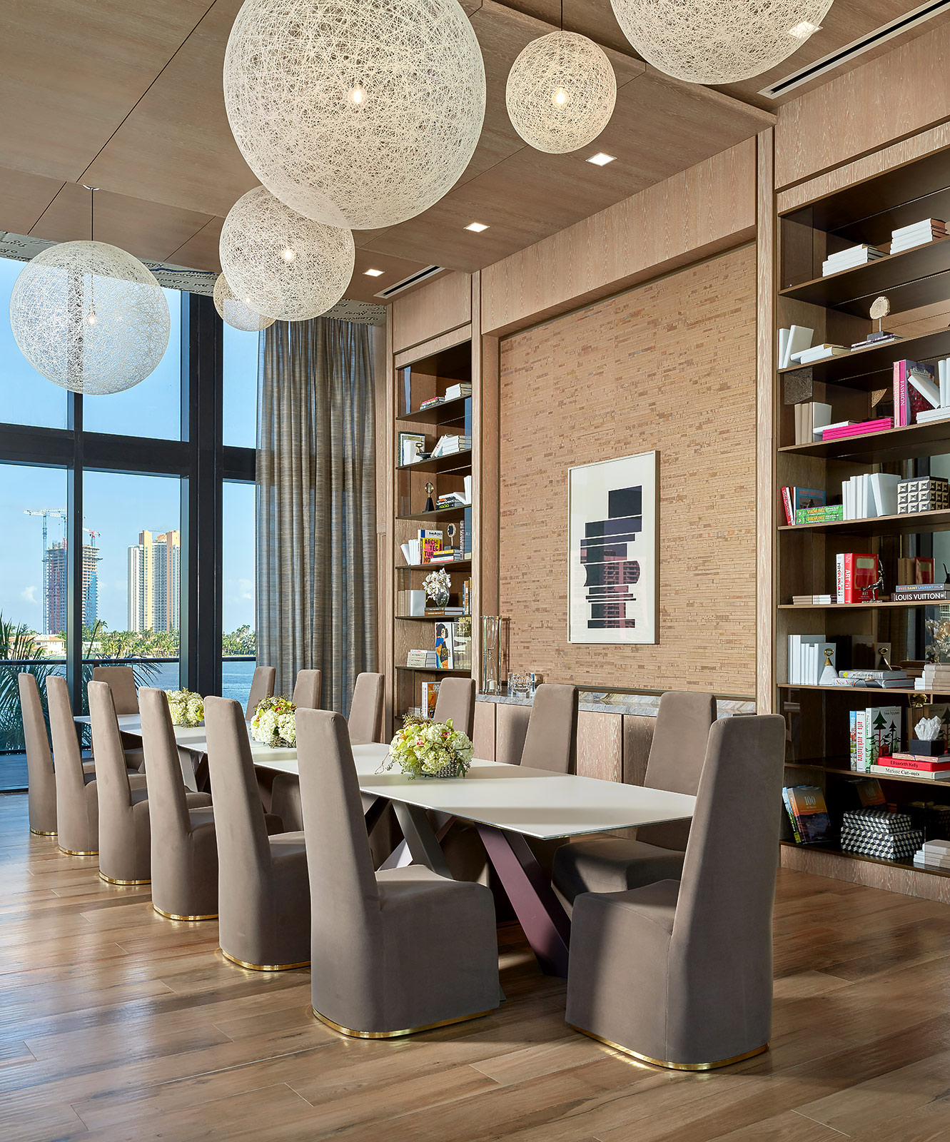 Prive-Condominium-Aventura-Florida-Library-Table
