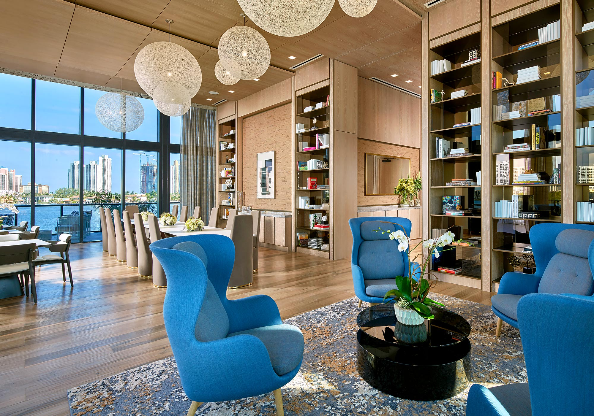 Prive-Condominium-Aventura-Florida-Library