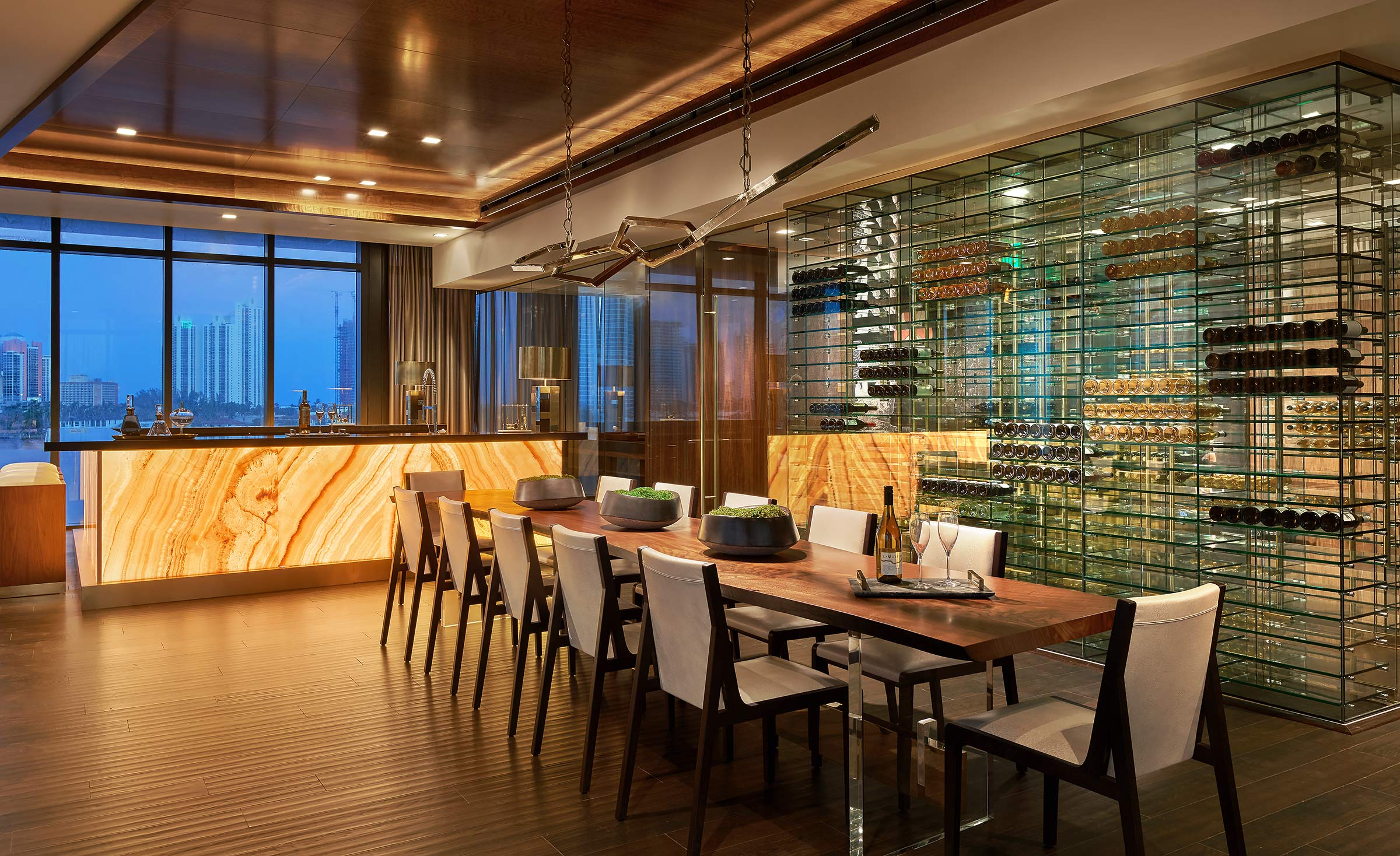 Prive-Condominium-Aventura-Florida-Wine-Room-View