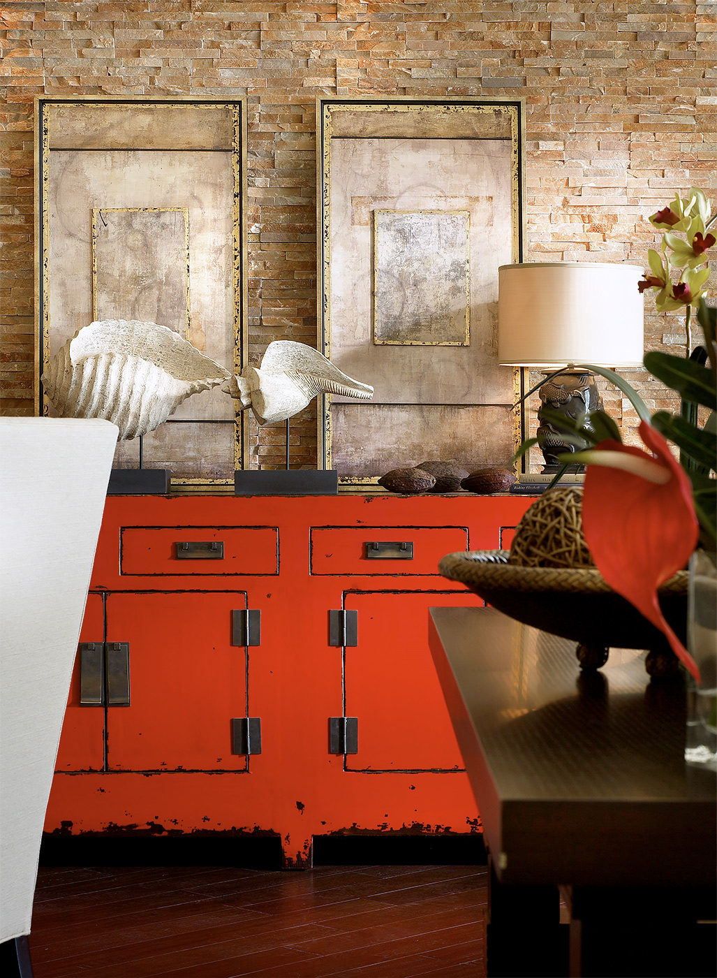 Robb-Stucky-Asian-Inspired-Design-Red-Dresser